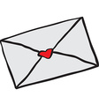 freehand drawn cartoon love letter vector image
