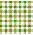 green gingham mix seamless pattern vector image