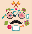 Hipster style elements vector image