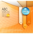 Infographics on abstract background vector image