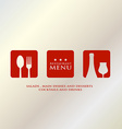 menu design presentation in metallic background vector image