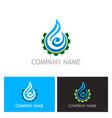 water drop abstract maintenance logo vector image