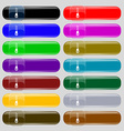 Zipper Icon sign Set from fourteen multi-colored vector image
