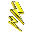 Lightnings weather icon vector image