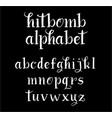 hitbomb alphabet typography vector image