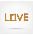 Wooden Boards Love Word vector image vector image