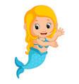 cute mermaid cartoon vector image