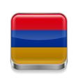 Metal icon of Armenia vector image