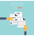 with flat newspapers News and vector image vector image