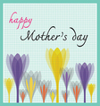 happy mother day with tulip and dot pattern vector image
