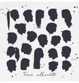 Face silhouettes white vector image