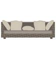 modern sofa flat icon isolated furniture luxury vector image