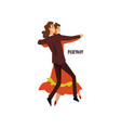 professional dancer couple dancing foxtrot pair vector image