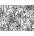 seamless pattern with hand drawn fancy vector image