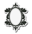 round vintage frame icon vector image
