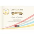 Certificate of participation template vector image