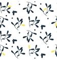 Blue mistletoe silhouette seamless pattern vector image