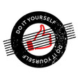 do it yourself rubber stamp vector image