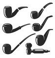 set of the smoking pipes vector image vector image
