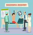 hospital doctors patient flat poster vector image