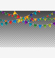 colorful isolated garland with party flags vector image