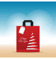 Paper bag with happy new year on it vector image
