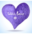 Watercolor heart isolated on background vector image