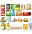 Set of foods vector image