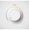 Realistic metal control panel tumbler Music audio vector image