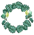 Frame with monstera leaves Decorative image of vector image