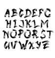 alphabet letters collection text lettering set vector image
