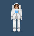 astronaut flat style vector image