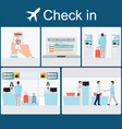 businessman check-in at the airport vector image
