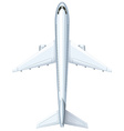 Modern design of airplane vector image