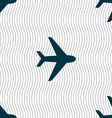 Plane icon sign Seamless pattern with geometric vector image