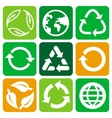 recycle signs and symbols vector image