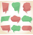 Set of speech bubbles and dialog balloons vector image