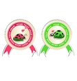 set of stickers with ladybirds in love vector image