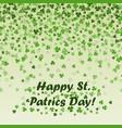 st patricks day frame green leaf vector image