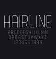 thin decorative bold font design grunge alphabet vector image