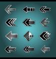 Set of design arrows vector image vector image