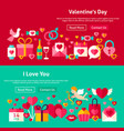 happy valentine day website banners vector image