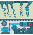 machinery mechanisms and mine industrial vector image