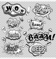 black and white comic speech bubbles vector image vector image