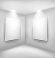 Frames in empty room vector image