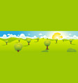 cartoon spring or summer landscape header vector image