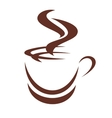 Doodle sketch of a steaming cup of coffee vector image vector image
