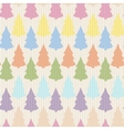 seamless pattern with abstract christmas tree vector image