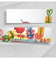 3D Abstract Banners With Place For Your Text vector image