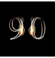 Fire and Smoke font Numbers 9 0 vector image